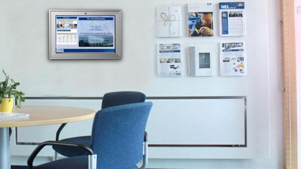 Informationen austauschen mit der digitalen Infotafel von Media-NEL