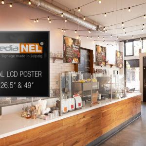 Digitaler Bilderrahmen für Bildschirmwerbung und Bilder in einer Bäckerei