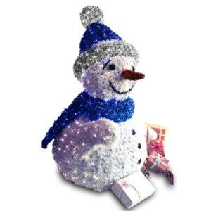 LED-Schneemann als Weihnachtsbeleuchtung Deko