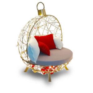 Weihnachtsbeleuchtung- LED Kugel zum Sitzen