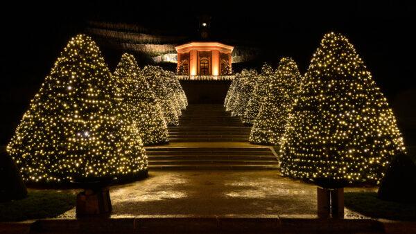 Lichterketten warm weiß als Weihnachtsbeleuchtung für festliche Beleuchtung- Großkonzerne und Werbezwecke