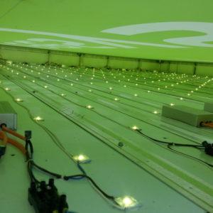 Spanntuchkasten von innen mit LED