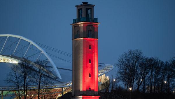 LED-Strahler für Architekturbeleuchtung mit vielen unterschiedlichen Farben